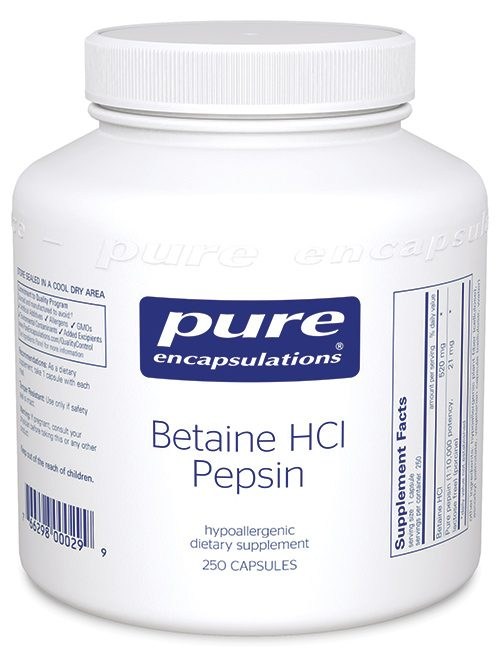 Betaine HCl Pepsin by Pure Encapsulations