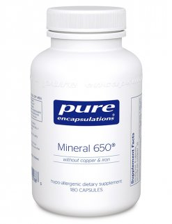 Mineral 650® w/o Cu &#38 Fe by Pure Encapsulations