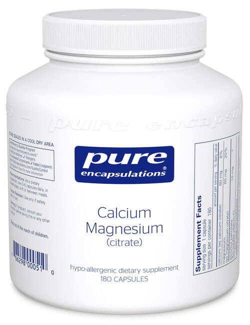Calcium magnesium citrate by Pure Encapsulations