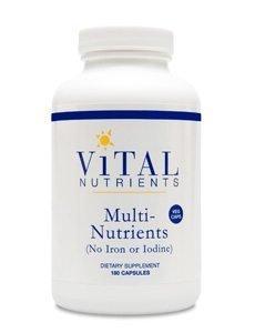 Multi-Nutrients Veg Caps no Iron or Iodine by Vital Nutrients