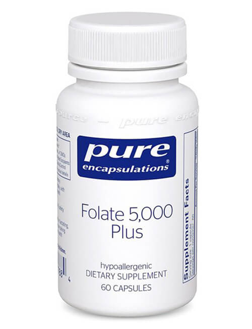 Folate 5,000 Plus By Pure Encapsulations - 5-MTHFR B-Vitamin